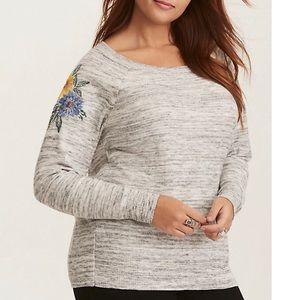 🎄Torrid lightweight floral sweater size 1X 14/16